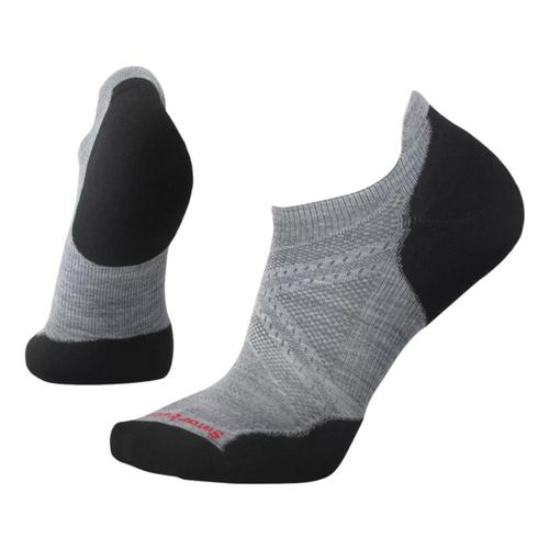 Smartwool Unisex Run Targeted Cushion Low Ankle Socks Gray/Black_026