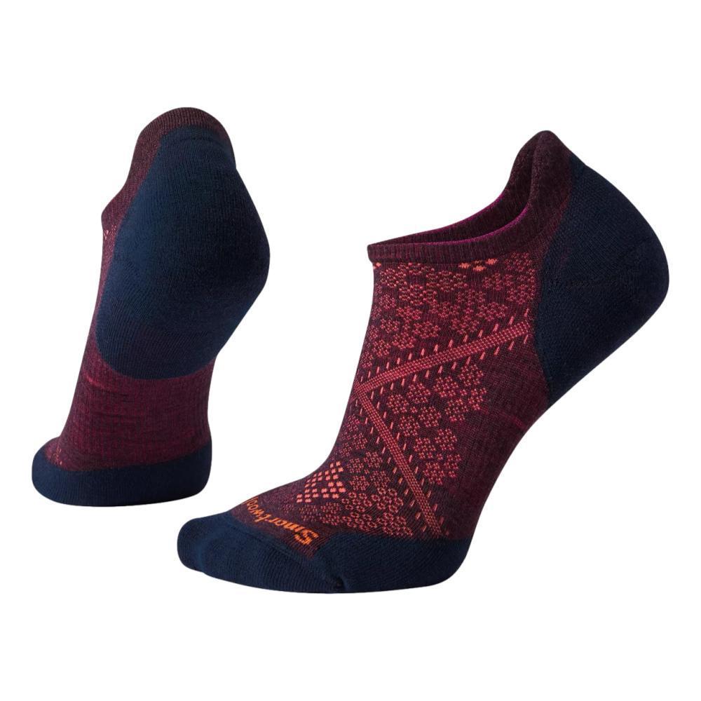 Smartwool Women's Run Targeted Cushion Low Ankle Socks BORDEAUX/NAVY_F11