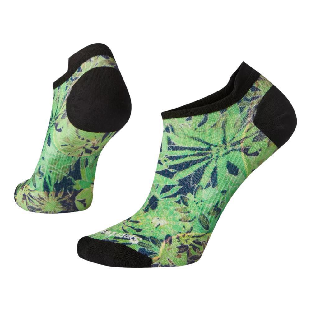 Smartwool Women's Cycle Zero Cushion Dazed Daisy Print Low Ankle Socks OASIS_D13