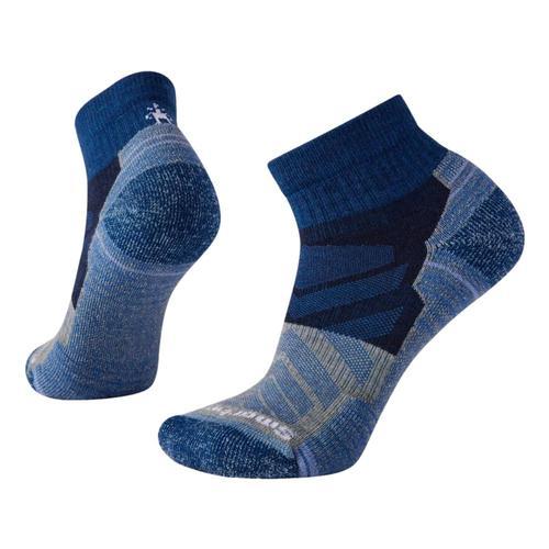 Smartwool Women's Hike Light Cushion Color Block Pattern Ankle Socks Alpineblue_b25