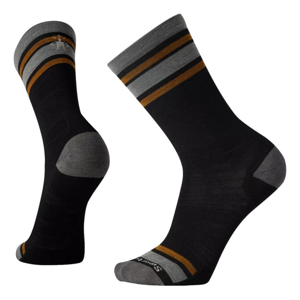 Smartwool Men's Everyday Top Split Stripe Crew Socks BLACK_001