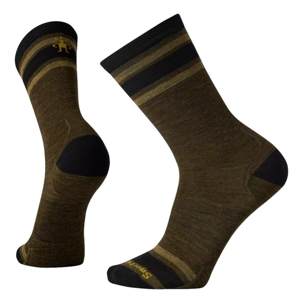 Smartwool Men's Everyday Top Split Stripe Crew Socks MILITARYOLIVE_D11