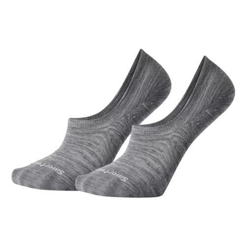 Smartwool Men's Everyday Sneaker No Show 2 Pack Socks Mediumgray_052