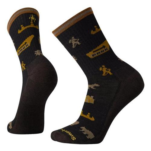 Smartwool Men's Everyday Park Explorer Pattern Crew Socks Black_001