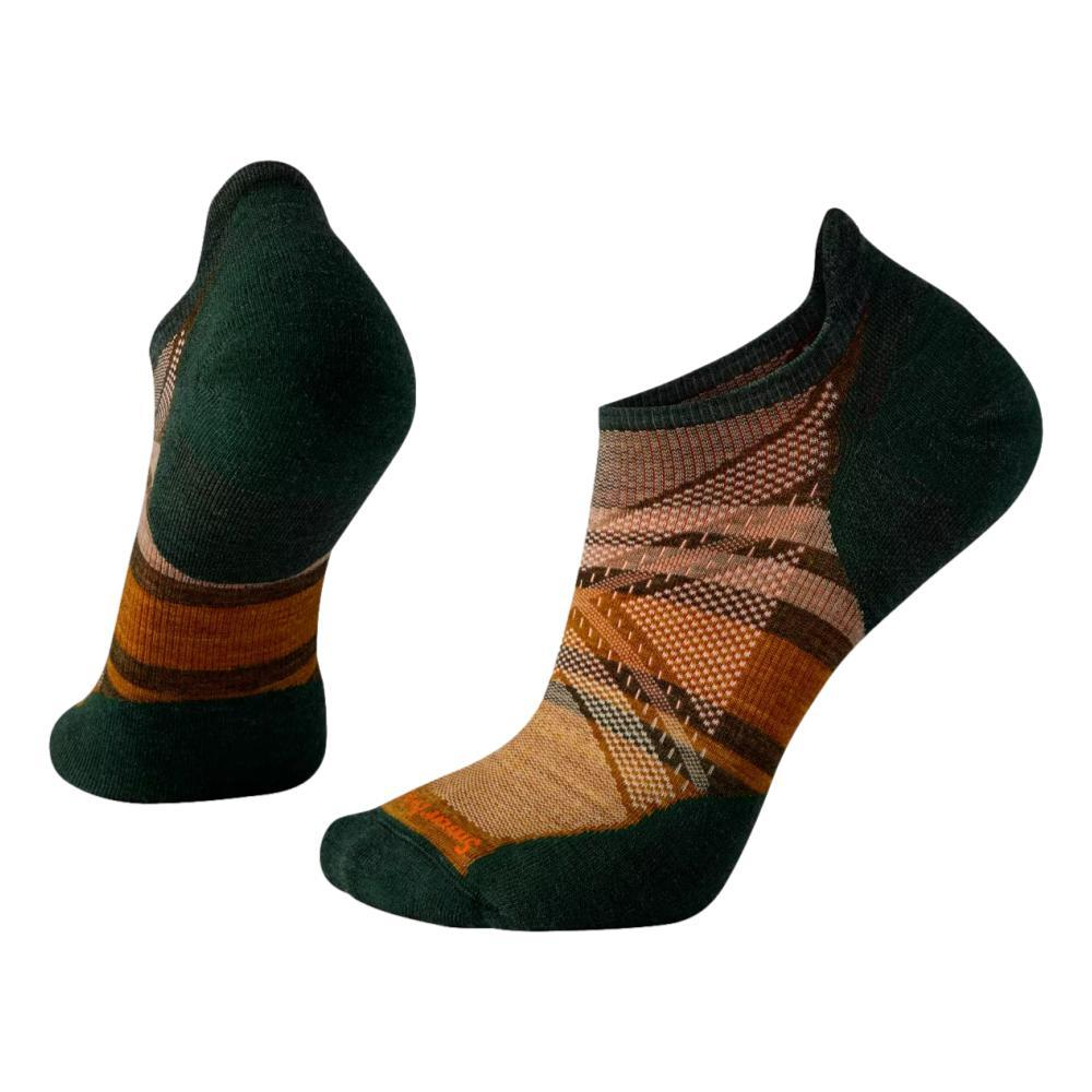 Smartwool Unisex Run Targeted Cushion Pattern Low Ankle Socks MILITARYOLIVE_D11