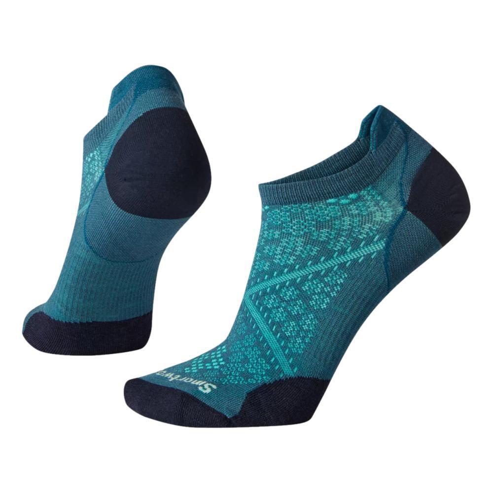 Smartwool Women's Run Zero Cushion Low Ankle Socks PRUSSIANBLUE_F12