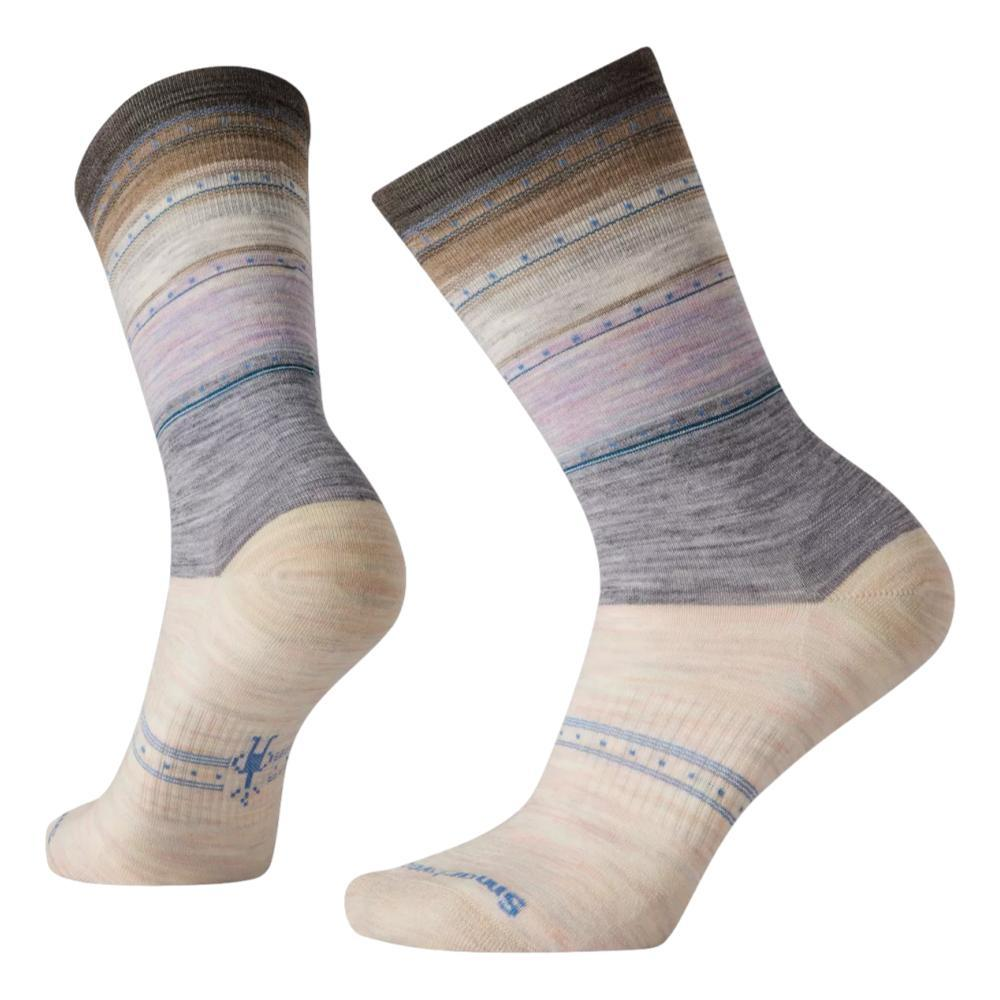 Smartwool Women's Everyday Stitch Stripe Crew Socks PURPLEECLIPSE_H76