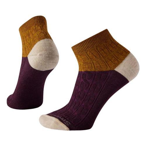 Smartwool Women's Cable Mini Boot Socks Acorn_g36