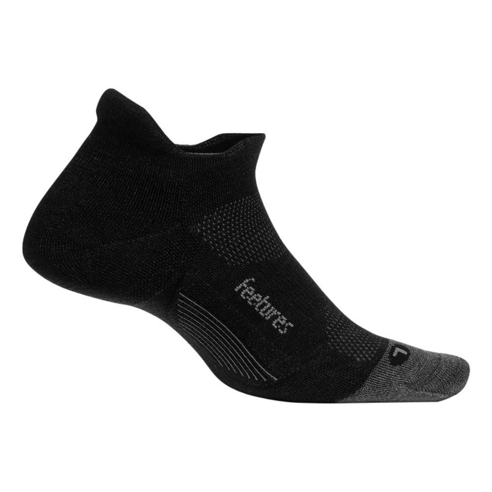 Feetures Merino 10 Ultra Light No Show Tab Socks CHARCOAL