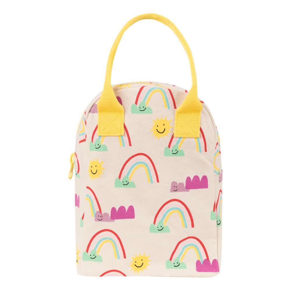 fluf Zipper Lunch Bag RAINBOWS