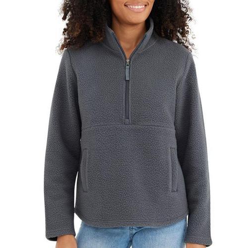 Free Fly Women's Sherpa Fleece Half Zip Irgrey_101