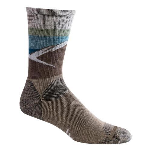 SockWell Men's Modern Mountain Crew Moderate Compression Socks Khaki_030