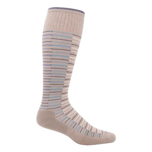 SockWell Women's Featherweight Flair Moderate Graduated Compression Socks Khaki_030