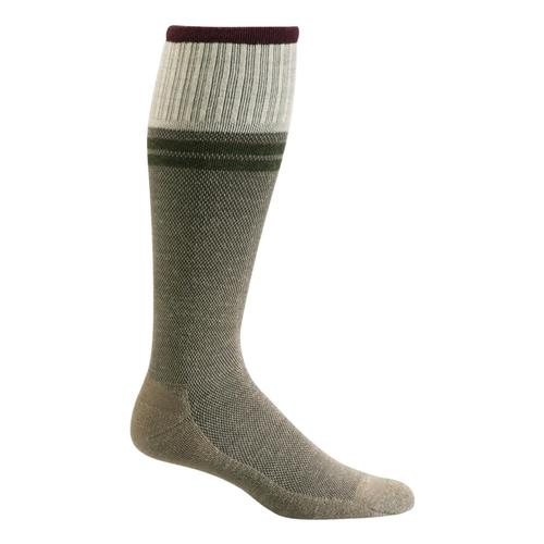 SockWell Men's Sportster Moderate Graduated Compression Socks Khaki_030