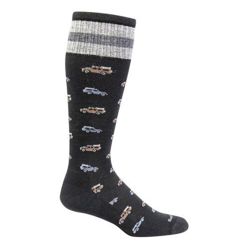 SockWell Men's Road Trip Moderate Graduated Compression Socks Black_900