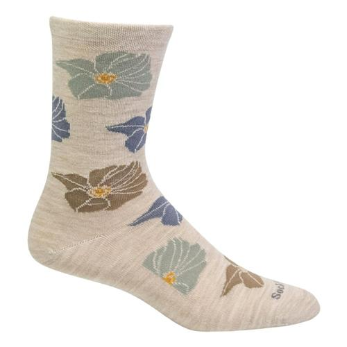 SockWell Women's Big Bloom Essential Comfort Socks Barley_040