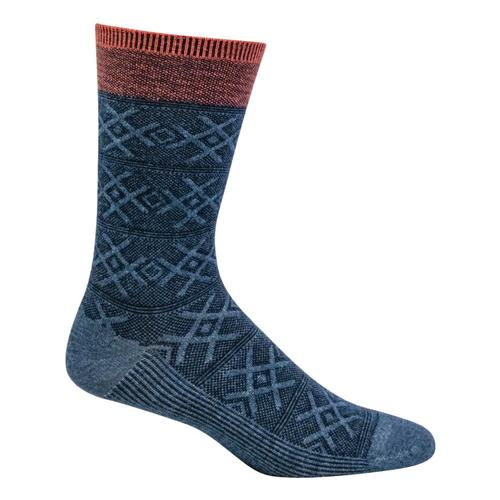 SockWell Men's Cabin Therapy Essential Comfort Socks Denim_650