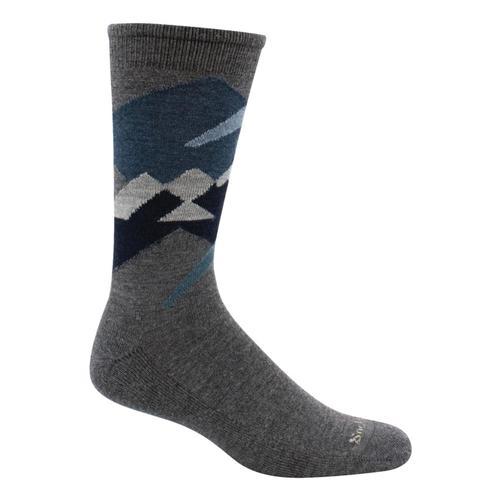 SockWell Men's Alpine Glow Essential Comfort Socks Charcoal_850