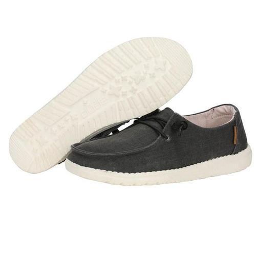 Hey Dude Women's Wendy Chambray Shoe Offblack