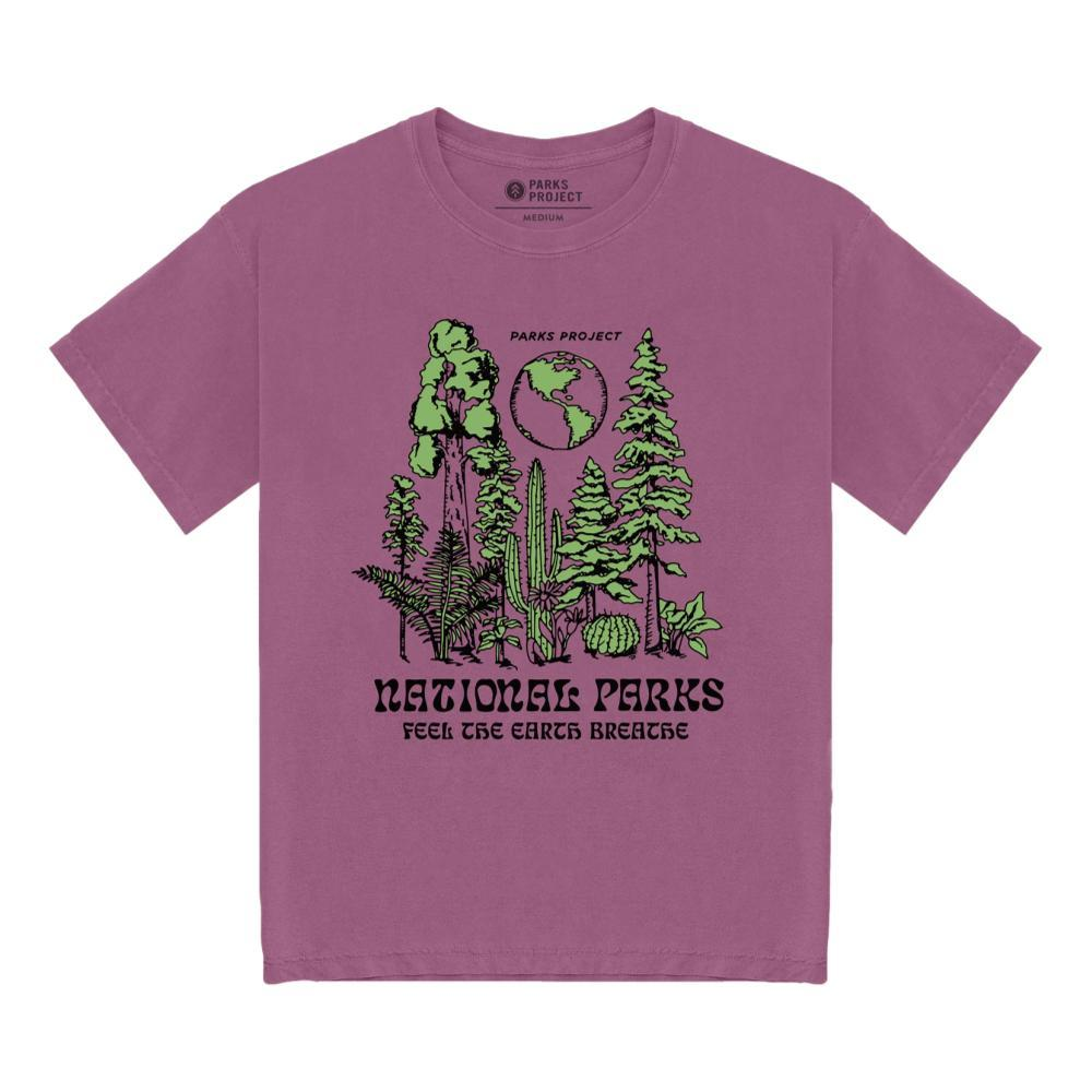 Parks Project Unisex Feel The Earth Breathe Tee Shirt PURPLE_PUR