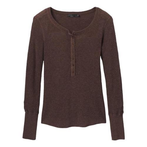 prAna Women's Milani Henley Long Sleeved Shirt Clove