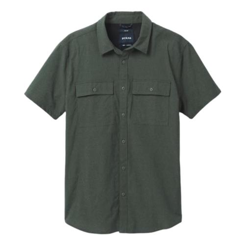 prAna Men's Sutherlin Shirt Kale