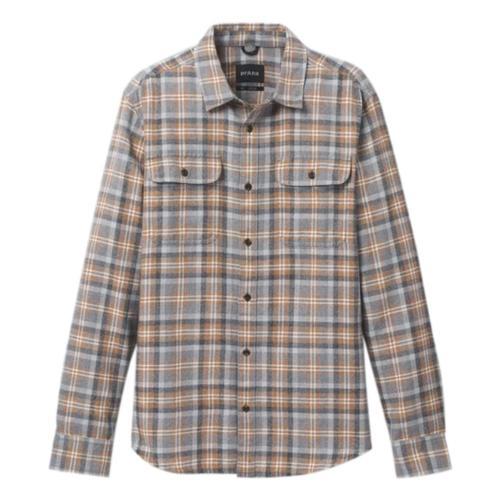 prAna Men's Edgewater Long Sleeve Shirt Pumpernickel
