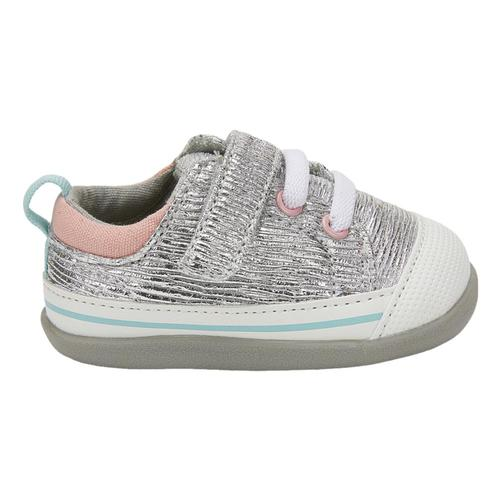 See Kai Run Toddlers Stevie (First Walker) Silver Shine  Shoes Silver