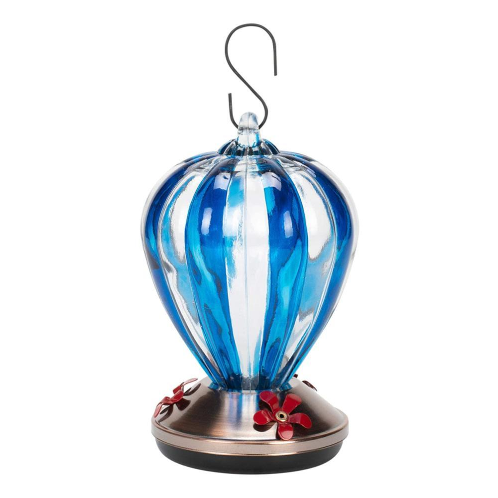 Red Carpet Studios Blue Balloon Glass Hummingbird Feeder