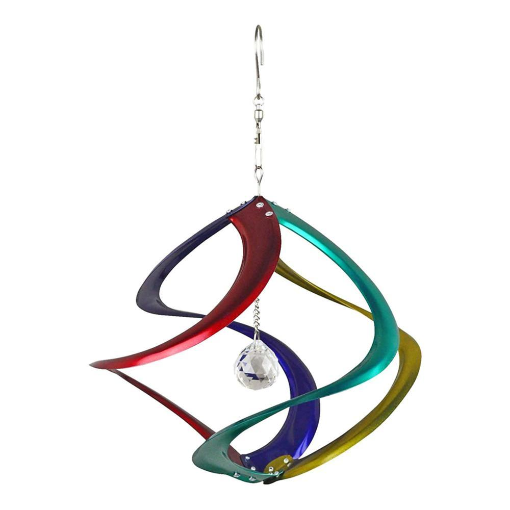 Red Carpet Studios Cosmix Rainbow With Crystal Wind Spinner - 11in
