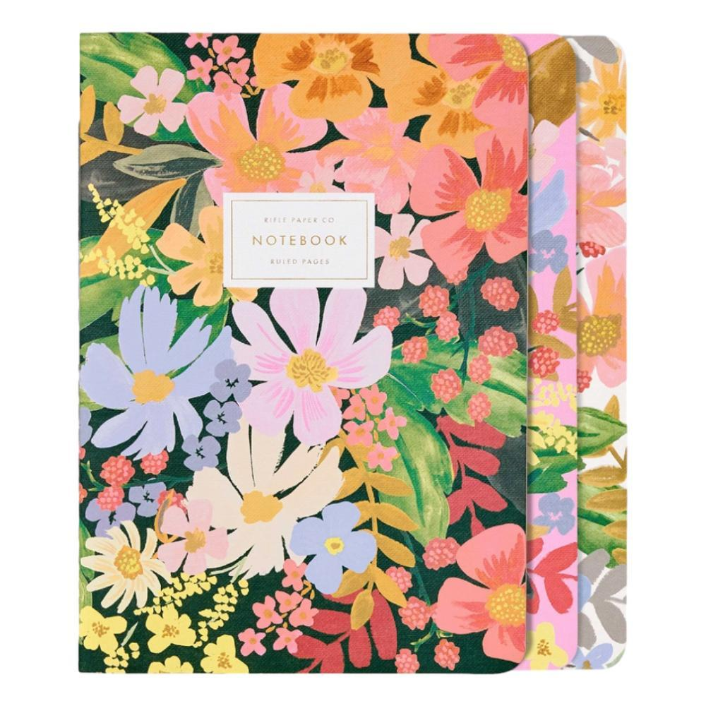 Rifle Paper Co.Marguerite Stitched Notebooks Set Of 3