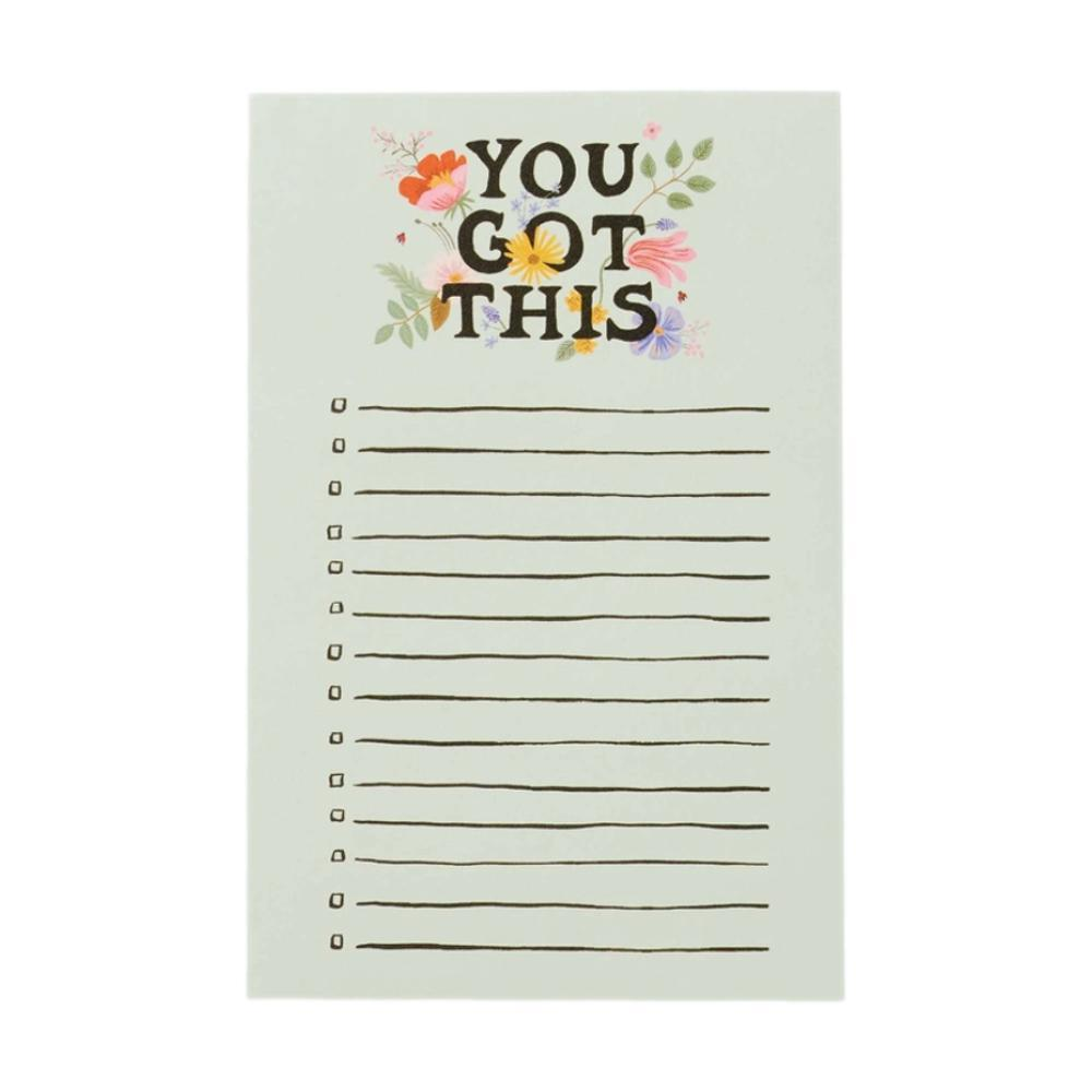 Rifle Paper Co.You Got This Checklist Notepad