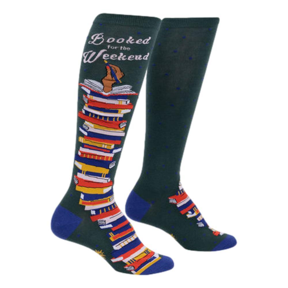 Sock It to Me Women's Booked For The Weekend Knee High Socks BOOKS
