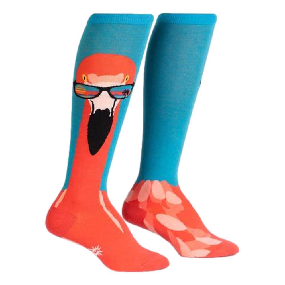 Sock It to Me Women's Ready to Flamingle Knee High Socks FLAMINGO