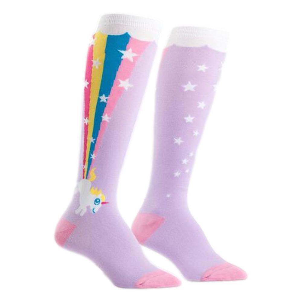 Sock It to Me Women's Rainbow Blast Knee High Socks RAINBOW