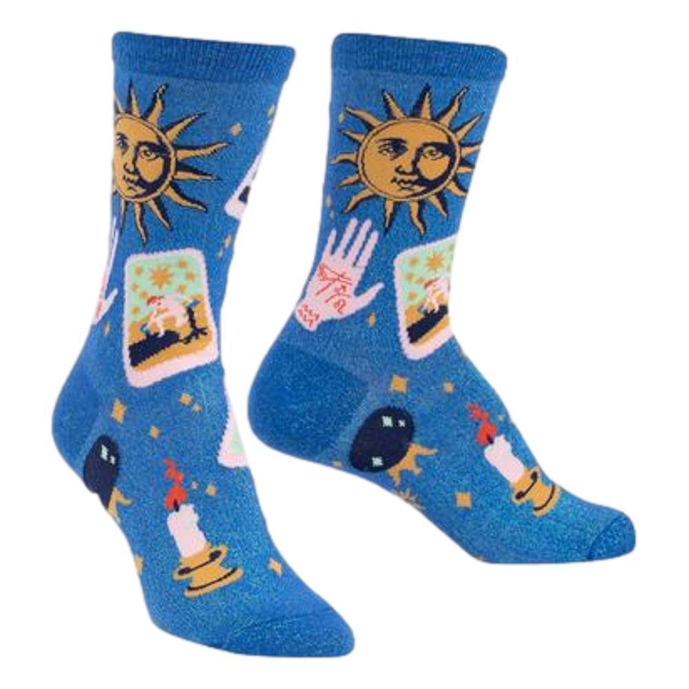 Sock It to Me Women's It's in the Cards Crew Socks BLUE