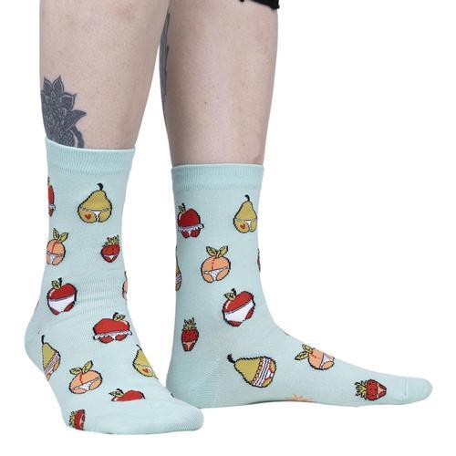 Sock It to Me Women's Main Squeeze Crew Socks Blue