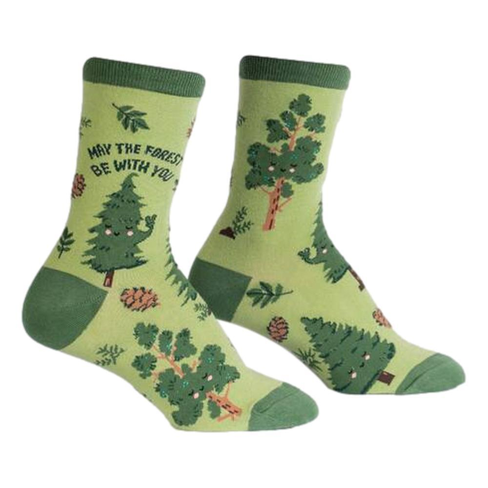 Sock It to Me Women's May The Forest Be With You Crew Socks GREEN