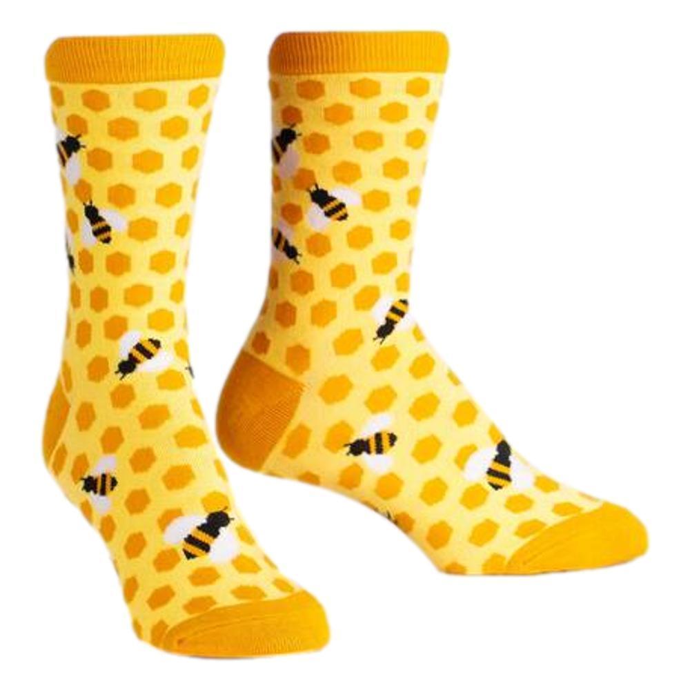 Sock It to Me Women's Bee's Knees Crew Socks YELLOW