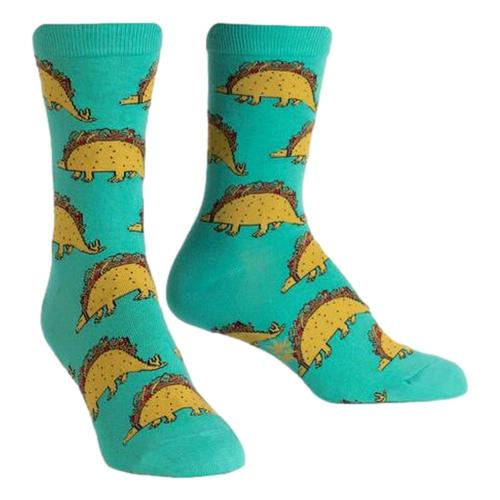Sock It to Me Women's Tacosaurus Crew Socks Blue