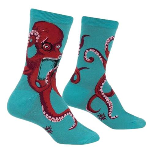 Sock It to Me Women's Octive Reader Crew Socks Octopus