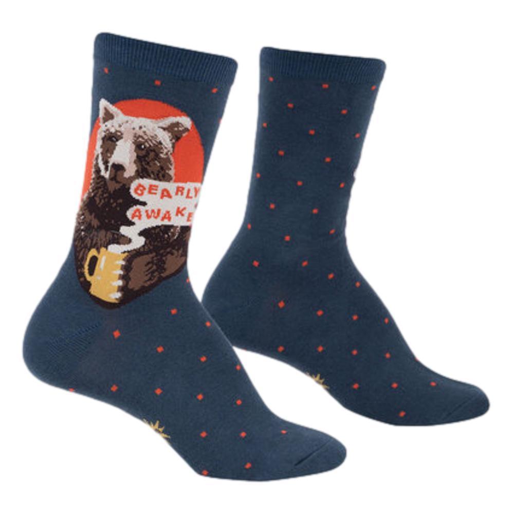 Sock It to Me Women's Bearly Awake Crew Socks BEAR