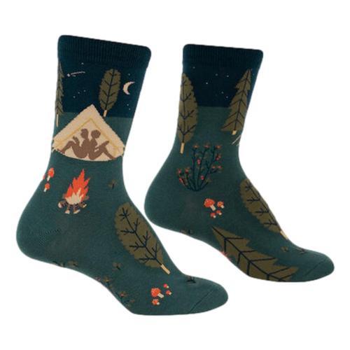 Sock It to Me Women's Off The Grid Crew Socks Llama