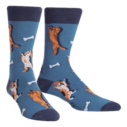 Sock It to Me Men's Raise the Woof Crew Socks Dogs