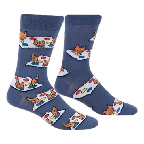 Sock It to Me Men's Beaks on Red Crew Socks Navy