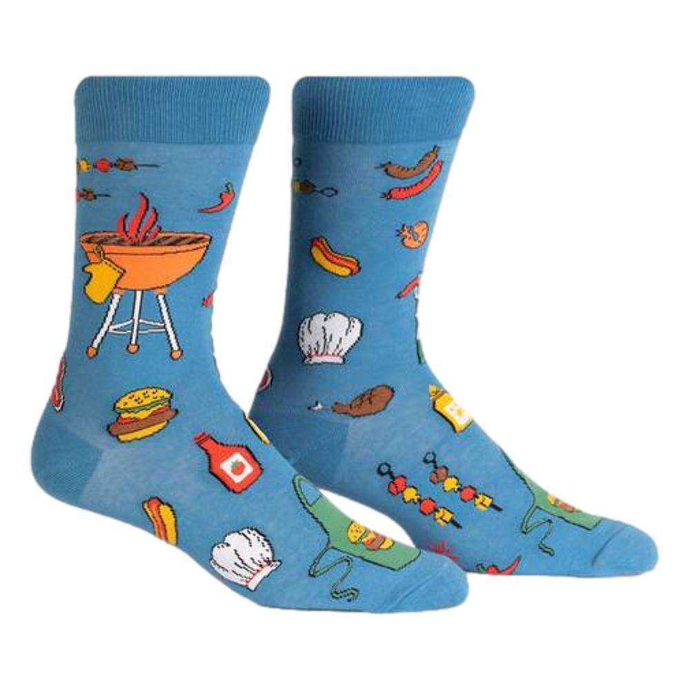 Sock It to Me Men's Grillin' It Crew Socks BLUE