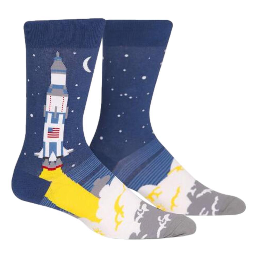 Sock It to Me Men's 3, 2, 1, Lift Off Crew Socks ROCKET