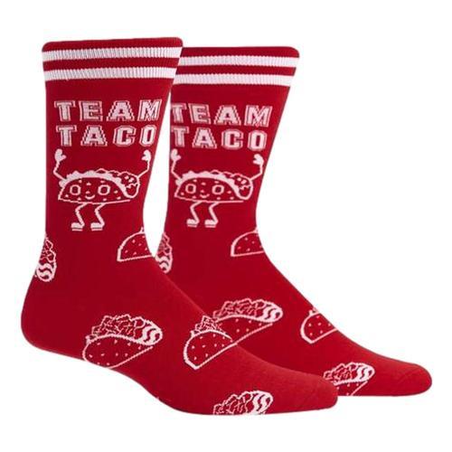 Sock It to Me Men's Team Taco Crew Socks Taco