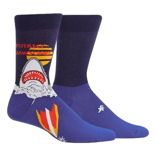Sock It to Me Men's Totally Jawsome Crew Socks Shark