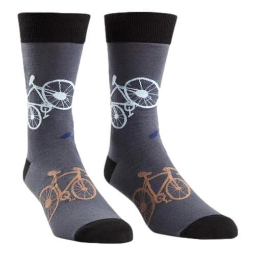 Sock It to Me Men's Large Bikes Crew Socks Bikes